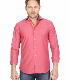 Buy Red cotton slim fit shirt. boys-shirt online