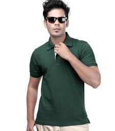 Buy Olive Green : Premium Polo men-tshirt online