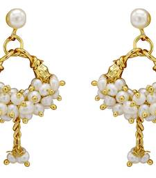 Buy UNIQUE HANDMADE REAL PEARLS BAALI/EARRINGS/HANGINGS FROM HYDERABAD (BANJAARA) - PCE1002 jhumka online