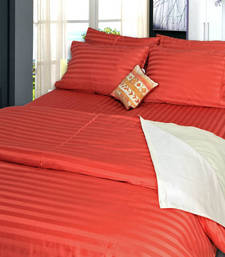 Buy Premium Self Design Double Bedsheet Set - 2 Cms Stripes bed-sheet online