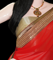 Buy Sizzling diva in red chiffon-saree online