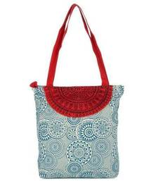 Buy Accrue blue and red Tote with semicircle Bag online
