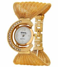 Buy Gold garnet watches karva-chauth-gift online