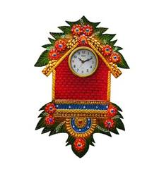 Buy Papier-Mache Wall Clock Hut Design wall-clock online