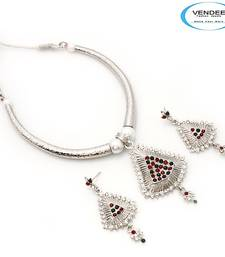 Buy Vendee-Latest fashion designer party wear diamonds Necklace set (6852) Necklace online