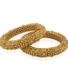 Buy Magnificent Gold plated antique bangle bangles-and-bracelet online