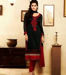 Buy Beautiful Black Georgette Salwar Kameez dress-material online