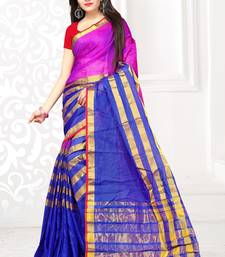 Buy Blue printed manipuri silk saree with blouse manipuri-silk-saree online
