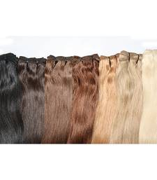 Buy 4 Chocolate Brown Machine Weft Remy Bleached Stitched Human Hair 18 inches hair-extension online
