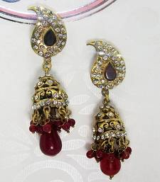 Buy Victorian Earring Blood Red Jhumki  Earring online