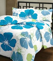 Buy eCraftIndia Blue Flowers Single Bed Reversible AC Blanket home-furnishing online
