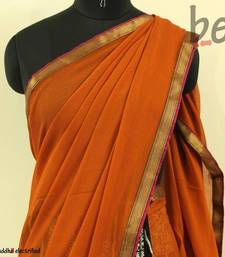 Orange Tiger Lily Pure Saree shop online