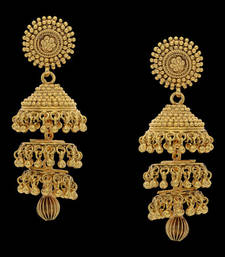 Buy BEAUTIFUL PLAIN GOLD PLATED JHUMKA jhumka online