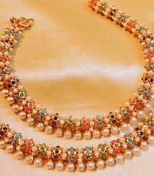 Buy multicolor payal anklet online