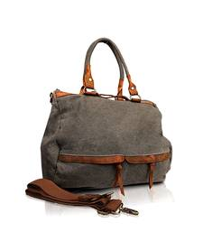 Buy Women Deep Grey Canvas Handbag handbag online