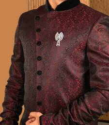 Buy Maroon tanchoi indowestern suit indo-western-dress online
