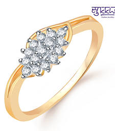 Buy Sukkhi  Gold  and Rodium plated CZ Studded Ring Ring online
