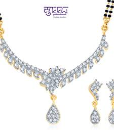 Sukkhi Fascinating Gold and Rhodium plated CZ Mangal Sutra Set  shop online