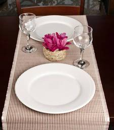 Buy Premium Talipot Table Runner, striped -  Pink table-mats-and-runner online