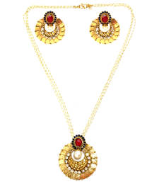 Buy Red & Blue Coin Necklace Set necklace-set online