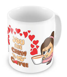 Buy Cute Hearts Printed Boy Girl Delightful Coffee Mug other-home-accessory online