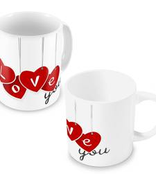 Buy Lovely I Love You Heart Printed Coffee Mugs Pair other-home-accessory online