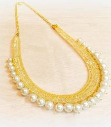 Buy IN TREND ZIRCON FILLED CHAIN PEARL NECKLACE Necklace online