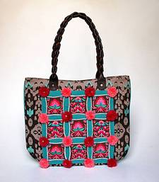 Buy Pom-pom Embroidered Tote tote-bag online