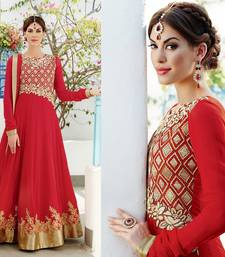 Buy Fascinate Red Color Floor Length Anarkali Suit anarkali-salwar-kameez online