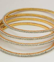 Buy SINGLE LINE VERY SMALL STONE SETTED 4 PICS ZERKON STONES BANGLES bangles-and-bracelet online