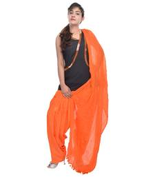 Buy Orange Cotton Patiala Salwar with Dupatta readymade-suit online