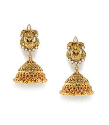 Buy Pearl/Stone Studded Royal Antique jhumka online