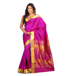 Buy Pink woven silk saree with blouse silk-saree online
