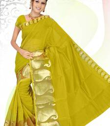 Buy PVC MANGO NO 556 GREEN SAREE cotton-saree online
