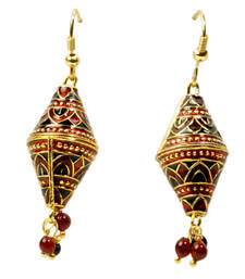 Buy Ethnic Red and Black Ear Ring Mothers Day Gift gifts-for-mom online