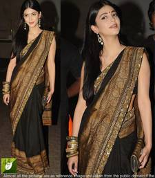 Buy Black embroidered Georgette saree with blouse bollywood-saree online