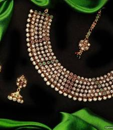 Buy Design no. 10b.2244....Rs. 3950 necklace-set online