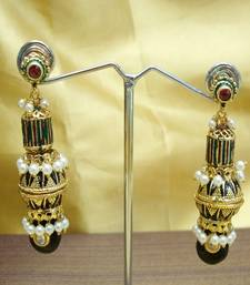 Meena Moti and Jadau Earring shop online