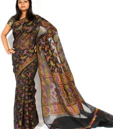 Buy Supernet fancy Multi-colour Design saree cotton-saree online