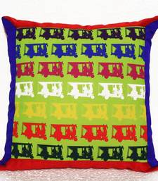 Buy Colorful Taxi's Cushion Cover with Border pillow-cover online