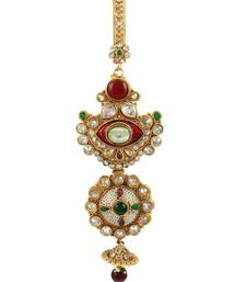 Buy Traditional Designer Juda in Red & Green Color Enamel Work key-chain online