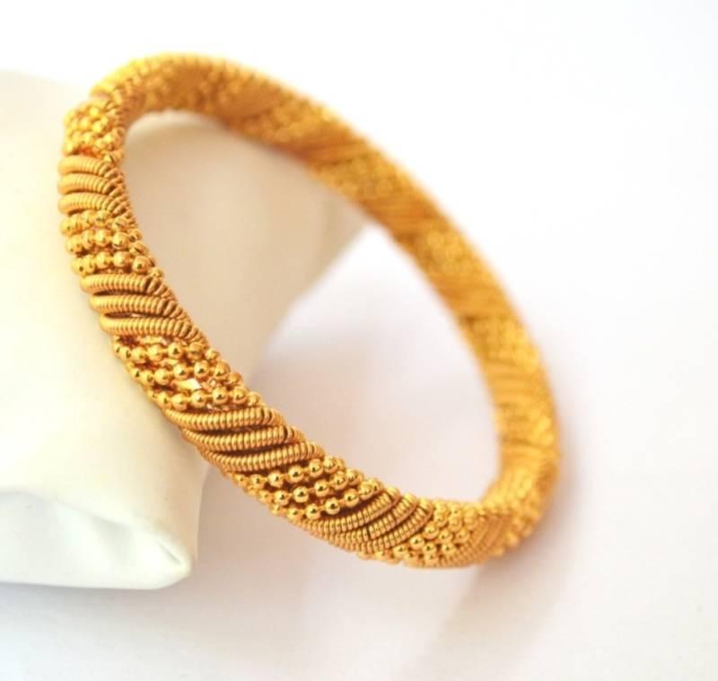 Buy Designer Gold Plated Bangle Online