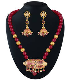 Buy Dashing Gold plated polki set necklace-set online