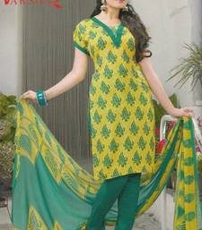 Buy Crepe dress material elegant designer unstitched salwar suit d.no 5163 dress-material online