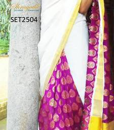 Traditional Kerala Kasavu Saree shop online