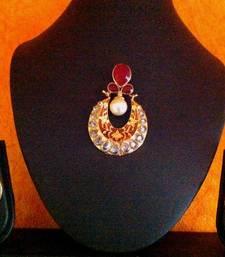 Buy Stunning Maroon Pendant Set with Unique Meenakari Work vi159 Necklace online