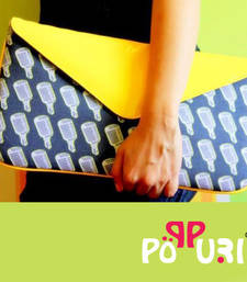 Yellow Mike Envelope Clutch shop online