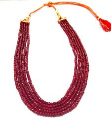 Buy Designer Ruby Colour  Strand Necklace online