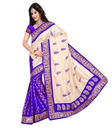 Buy multicolor Brasso Art silk saree with blouse brasso-saree online
