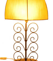 COTTON SILK & SPIRAL METAL TABLE LAMP